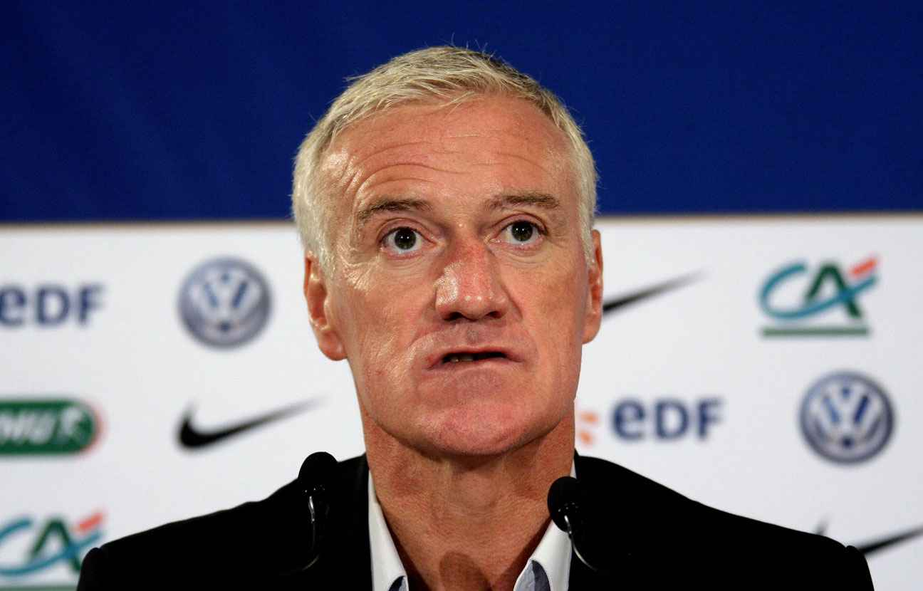 Didier Deschamps lors d'une conférence de presse