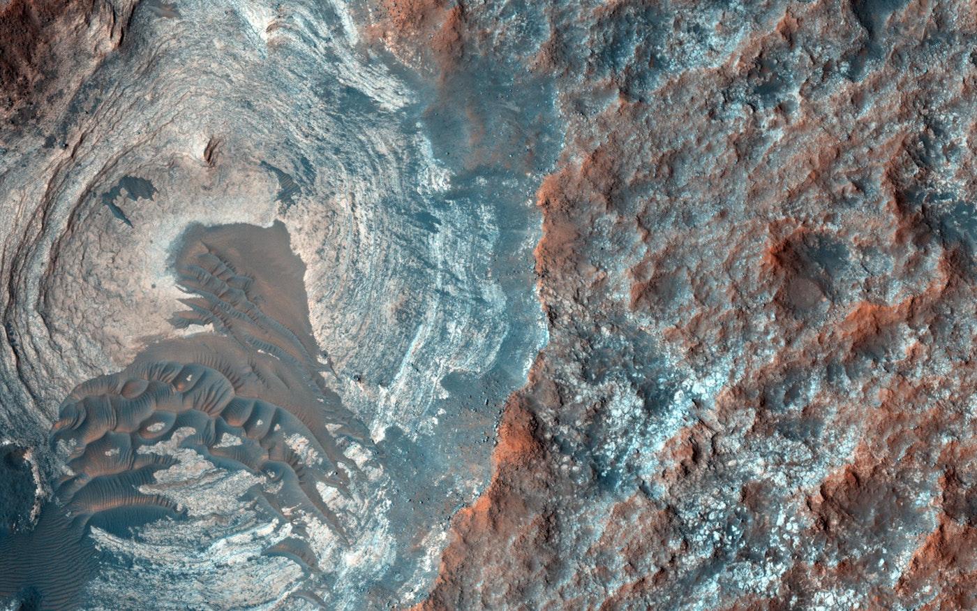 Vue satellitaire du sous-sol de Mars