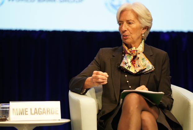 Christine Lagarde lors d'un forum en avril 2019