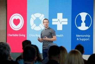 Mark Zuckerberg, lors d'une intervention au Facebook Social Good Forum en novembre 2017