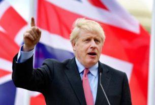 Boris Johnson lors de sa campagne avec son élection au poste de Premier minsitre britannique