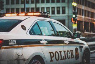 Un véhicule de police aux Etats Unis