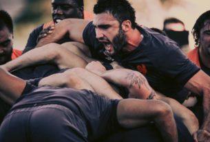 Le XV de France, lors d'un entraînement avant d'affronter le Pays de Galles en quart de finale de la Coupe du monde de rugby 2019 au Japon