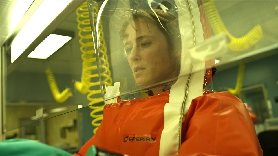 "Jennifer Ehle, alias Dr. Ally Hextall, dans le thriller ""CONTAGION"", une sortie de Warner Bros Pictures. © 2011 Warner Bros. Entertainment Inc."