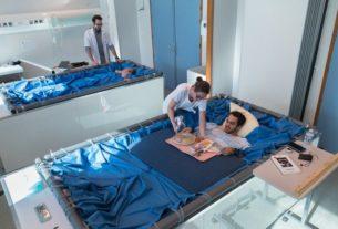 Des volontaires au lit (photo ESA).