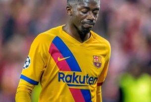 Ousmane Dembélé, lors d'un match de Barcelone FC.