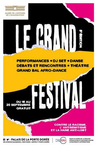 Affiche du Grand Festival contre le racisme, la haine anti-LGBT et l'antisémitisme.