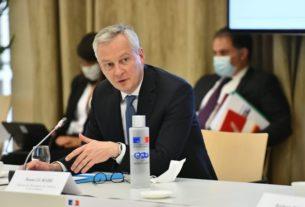 Le ministre de l'Economie Bruno Le Maire lors d'une conférence en juillet 2020