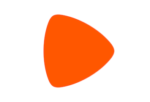 Le logo de Zalando en couleur orange.