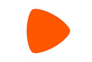 Le logo de Zalando en couleur orange.